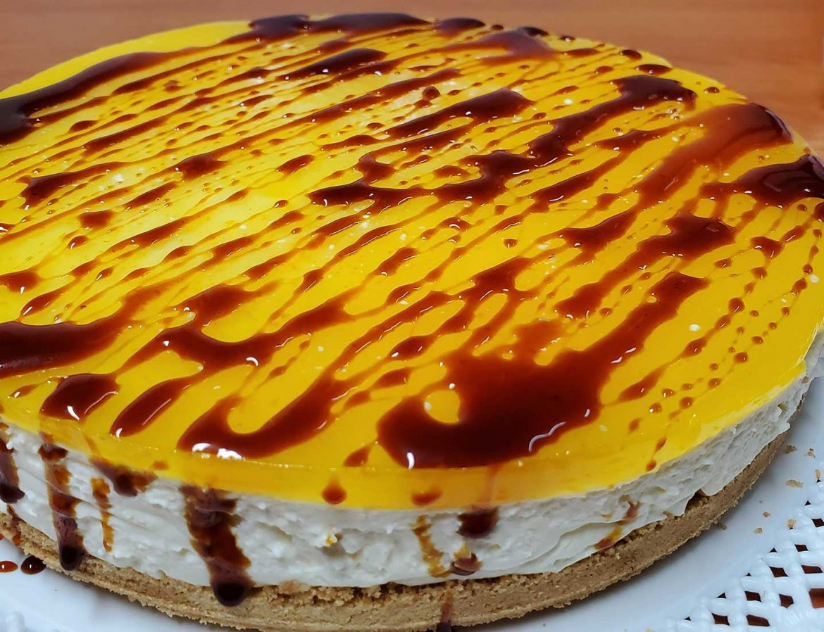 Cheesecake arancia e Carruba