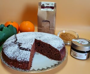 Torta al gusto di arancia e carruba (adatta ai diabetici)