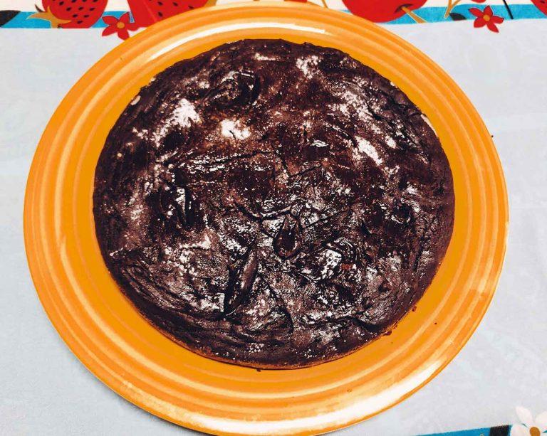 Brownie alla zucca e farina di carruba
